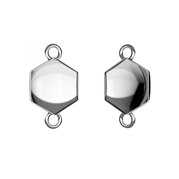 Zawieszka łącznik - baza do Hexagon Fancy*srebro AG 925*CON 2 OKSV 4683 10 mm (4683 MM 10,0X 11,2)