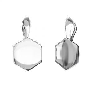 Krawat do naszyjnika - baza do Hexagon Fancy*srebro AG 925*KRP OKSV 4683 10 mm (4683 MM 10,0X 11,2)