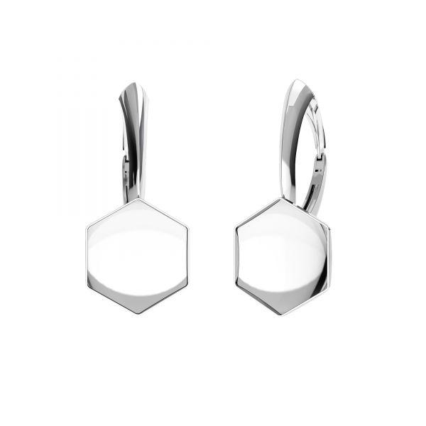 Bigiel angielski - baza do Hexagon Fancy*srebro AG 925*BA SET OKSV 4683 10 mm (4683 MM 10,0X 11,2)