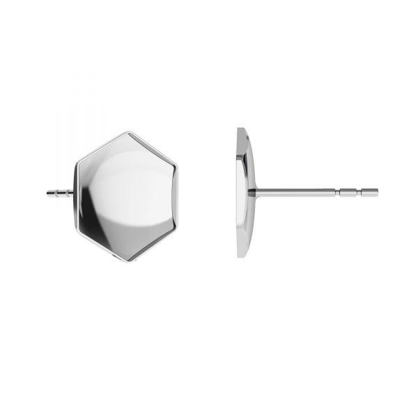 Kolczyk sztyft - baza do Hexagon Fancy*srebro AG 925*KLS OKSV 4683 10 mm (4683 MM 10,0X 11,2)