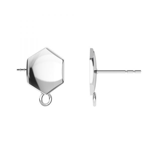Kolczyk sztyft do podwieszania - baza do Hexagon Fancy*srebro AG 925*KLS OKSV 4683 10 mm (4683 MM 10,0X 11,2)