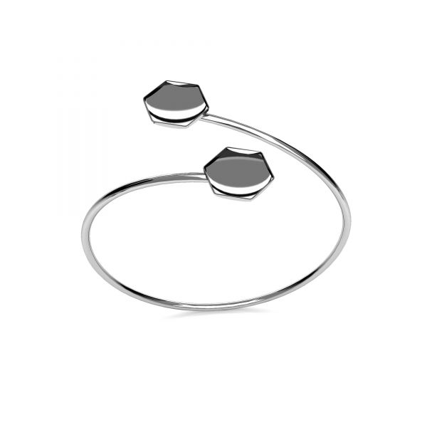 Bransoletka wsuwana - baza do Hexagon Fancy*srebro AG 925*SBR OKSV 4683 10 mm (4683 MM 10,0X 11,2)