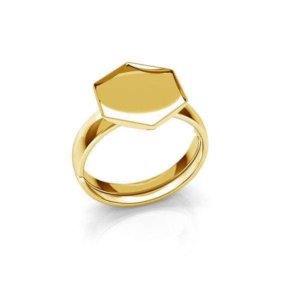 Pierścionek uniwersalny - baza do Hexagon Fancy*srebro AG 925*U-RING OKSV 4683 10 mm (4683 MM 10,0X 11,2)