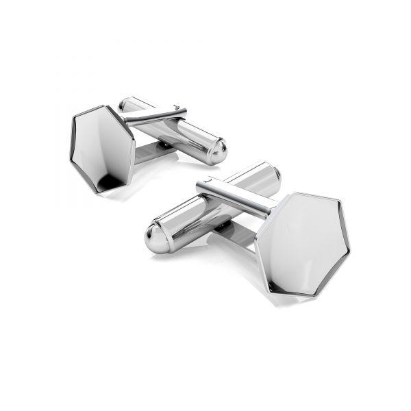 Spinka do mankietu - baza do Hexagon Fancy*srebro AG 925*OKSV 4683 10 mm (4683 MM 10,0X 11,2)