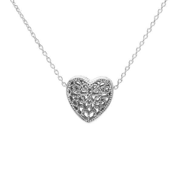 Przekładka ozdobna - serce*srebro AG 925*BDS-00002 4,85x8,3 mm