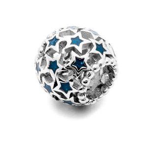 Przekładka ozdobna - gwiazda z cyrkoniami*srebro AG 925*BDS-00004 4,85x8,3 mm