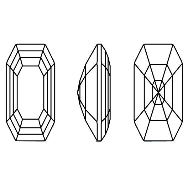 4595 MM 20,0X 10,0 JET (Elongated Imperial Fancy Stone)