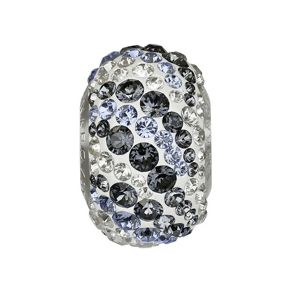 82023 BeCharmed Pavé Air Bead - Crystal, Crystal, Light Sapphire