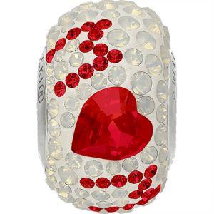 82103 BeCharmed Pavé Best Mom Bead - Crystal, Light Siam, White Opal
