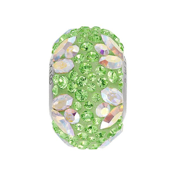 82112 BeCharmed Pavé Flower Bead  - Crystal, Peridot, Aurore Boreale