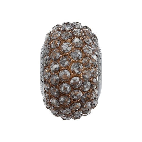 84501 BeCharmed Pavé Ceramics Bead - Marbled Terracotta