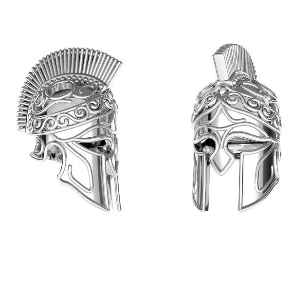 Zawieszka - chełm Spartan*srebro AG 925*ODL-00646 6,5x16,3 mm