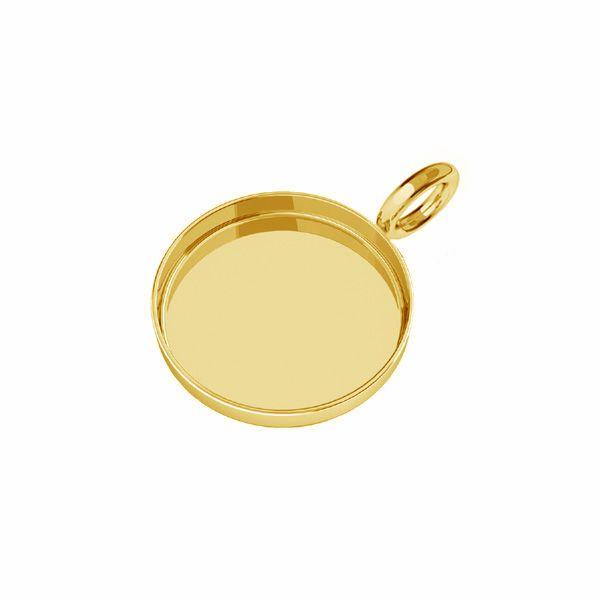 Zawieszka - miseczka owalna do żywicy*srebro AG 925*CON 1 FMG-R - 1,30 8 mm