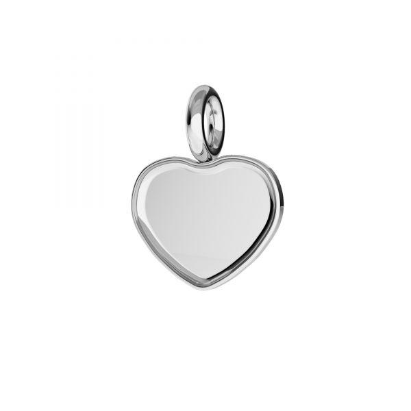Zawieszka serce - baza do Heart Flat Back*srebro AG 925*CON 1 HKSV 2808 6 mm ver.2 (2808 MM 6)