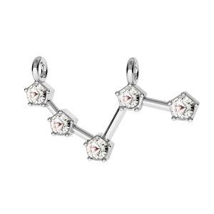 Zawieszka łącznik - znak zodiaku - baran z kryształami*srebro AG 925*CON 2 ODL-00636 13,5x15 mm
