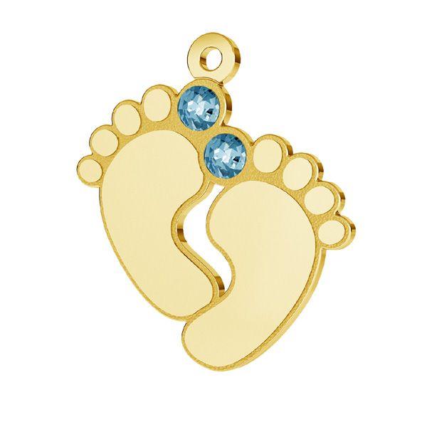 Zawieszka - stópki dziecka z kryształami Swarovskiego*srebro AG 925*LK-0481 - 0,50 16x21 mm ver.2