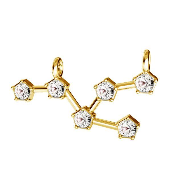 Zawieszka łącznik - znak zodiaku - byk z kryształami Swarovskiego*srebro AG 925*CON 2 ODL-00648 11x24 mm