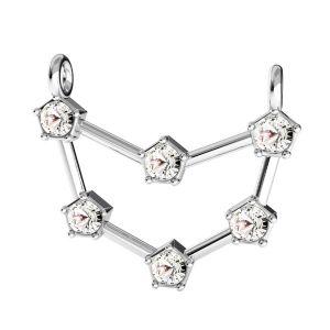 Zawieszka łącznik - znak zodiaku - koziorożec z kryształami Swarovskiego*srebro AG 925*CON 2 ODL-00658 18x19,3 mm