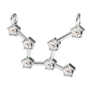 Zawieszka łącznik - znak zodiaku - panna z kryształami Swarovskiego*srebro AG 925*CON 2 ODL-00654 16,1x23,5 mm