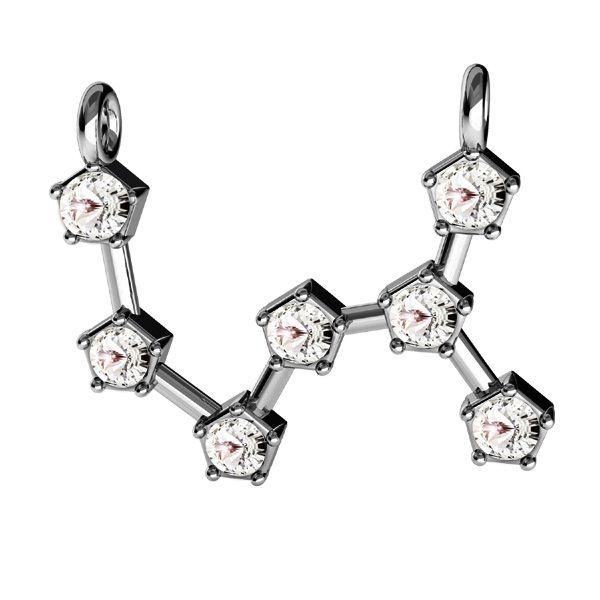 Zawieszka łącznik - znak zodiaku - skorpion z kryształami Swarovskiego*srebro AG 925*CON 2 ODL-00656 17x18,5 mm