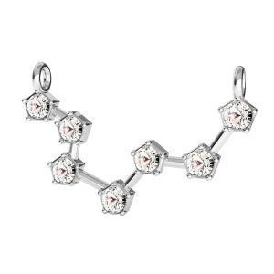 Zawieszka łącznik - znak zodiaku - ryby z kryształami Swarovskiego*srebro AG 925*CON 2 ODL-00647 16,5x24 mm
