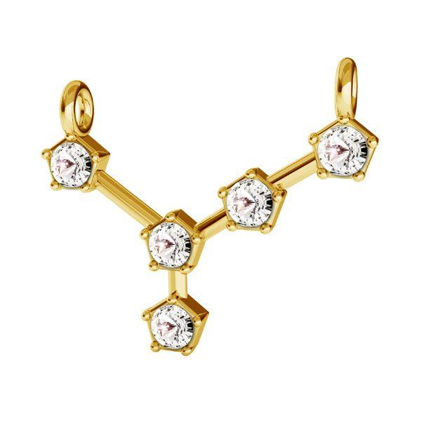 Zawieszka łącznik - znak zodiaku - rak z kryształami Swarovskiego*srebro AG 925*CON 2 ODL-00651 15,8x19 mm