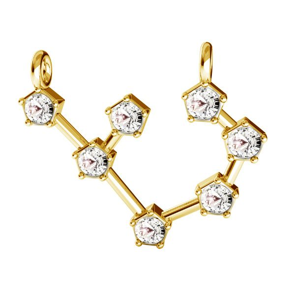 Zawieszka łącznik - znak zodiaku - strzelec z kryształami Swarovskiego*srebro AG 925*CON 2 ODL-00657 17,5x19 mm