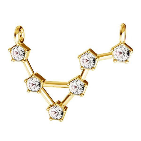 Zawieszka łącznik - znak zodiaku - waga z kryształami Swarovskiego*srebro AG 925*CON 2 ODL-00655 15,5x23 mm