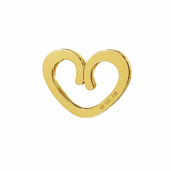 Zawieszka ażurowa - serce*złoto AU 585*LKZ-50009 - 0,30 7x9 mm