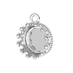 Zawieszka - miseczka do żywicy korona*srebro AG 925*CON 1 ODL-00680 8,8x11,5