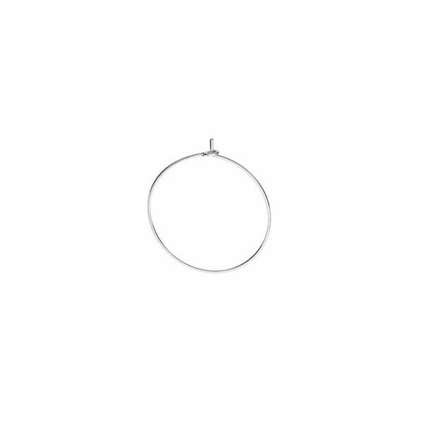 Bigiel zamknięty - okrągły*srebro AG 925*BZ 14 0,8x19,6 mm