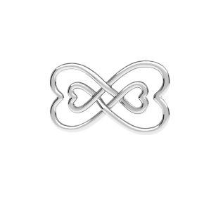 Zawieszka - znak nieskończoności*srebro AG 925*ODL-00674 11x20,5 mm