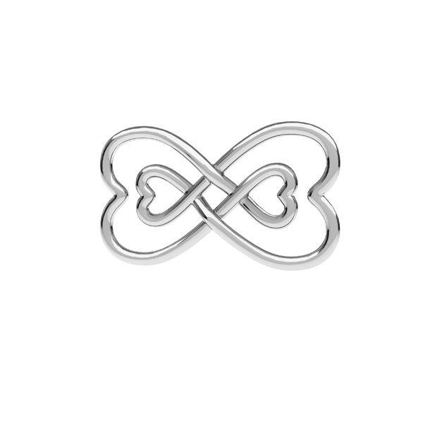 Zawieszka - znak nieskończoności serce*srebro AG 925*ODL-00674 11x20,5 mm