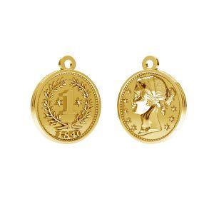 Zawieszka - Chińska moneta*srebro AG 925*ODL-00012 10,8x13,5 mm