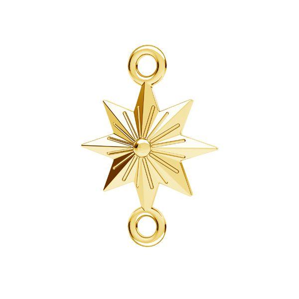 Zawieszka łącznik - gwiazda*srebro AG 925*ODL-00638 12x17,1 mm