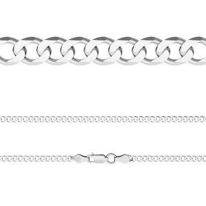 Łańcuszek typu Pancerka z zamkiem*srebro AG 925*PD 120 6L (45 cm)