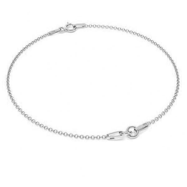 Bransoletka łańcuszkowa - dwuczęściowa*srebro AG 925*BRACELET 1 (A 030) 13-20 cm