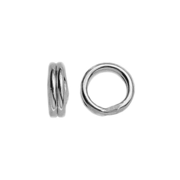 Podwójne kółko łączące*srebro AG 925*OG 4 - 2,55x4 mm