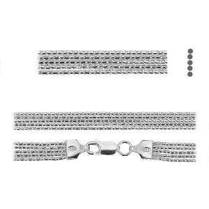 Łańcuszek typu Coreana - plecionka z zamkiem*srebro AG 925*PLE CORD 1,2 2S (45 cm)