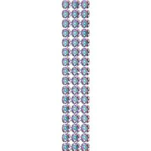 40001/003 012 001AB - Crystal Mesh Standard 3 rzędy, Crystal AB