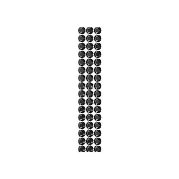 40001/003 012 001SINI - Crystal Mesh Standard 3 rzędy, Silver Night