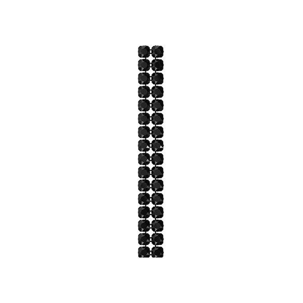 40001/002 082 280 - Crystal Mesh Standard 2 rzędy, Jet
