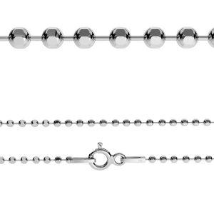 Łańcuszek - typ kulkowy diamentowany z zamkiem*srebro AG 925*CPLD 1,0 (45 cm)