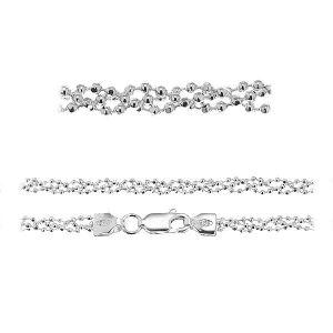 Łańcuszek typu kulkowego - plecionka z zamkiem*srebro AG 925*PLE CPLD 1,2 3P (45 cm)