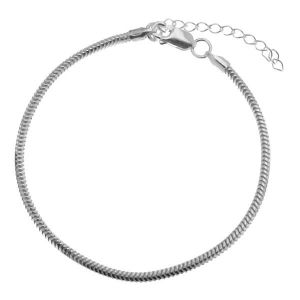 Bransoletka łańcuszkowa z przedłużką - baza do CHARMS*srebro AG 925*HAND BASE CSTD 2,4 (18 + 4 cm)