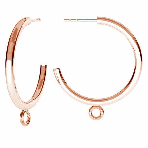 Kolczyk sztyft - półpierścień*srebro AG 925*KL-240 KW 27x31 mm