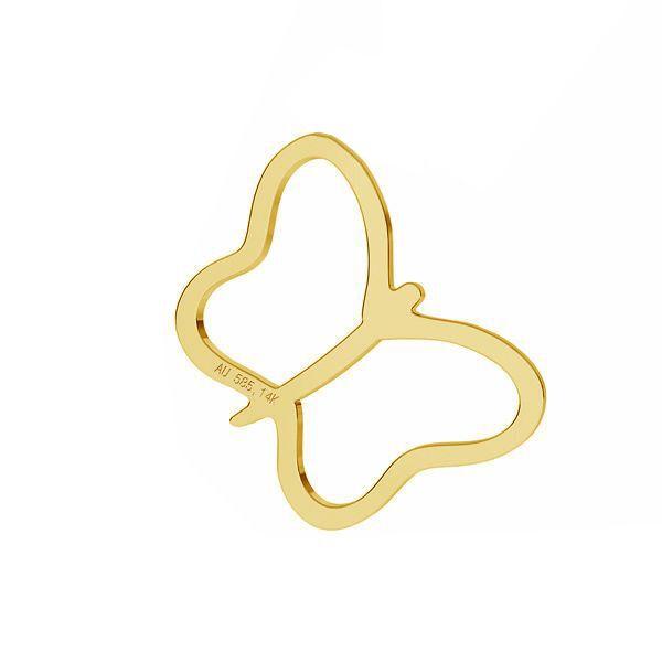 Zawieszka - motyl*złoto AU 585*LKZ-50015 - 03 9,5x9,5 mm