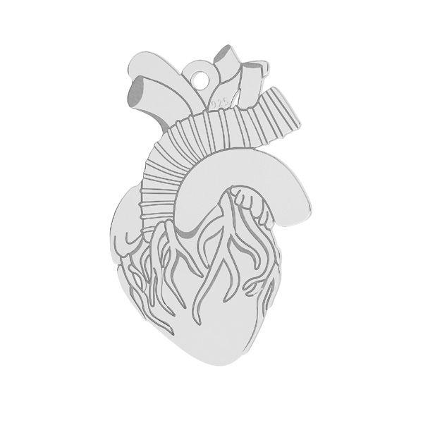 Zawieszka - serce ludzkie*srebro AG 925*LKM-2370 - 0,50 14x21,6 mm