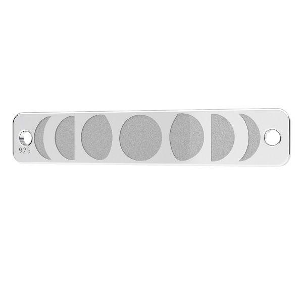 Zawieszka łącznik - blaszka prostokątna fazy księżyca*srebro AG 925*LKM-2359 - 0,50 5x25 mm