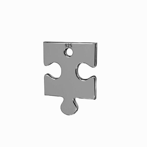Zawieszka - puzzel*srebro AG 925*LKM-2420 - 0,50 14x24 mm